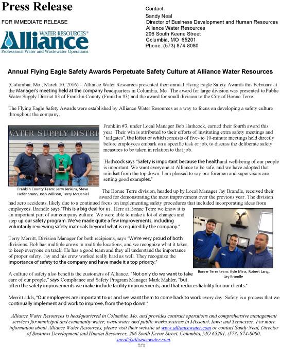 Press Release-Alliance_EagleAwards2016